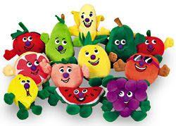 12 Peluches de Fruta